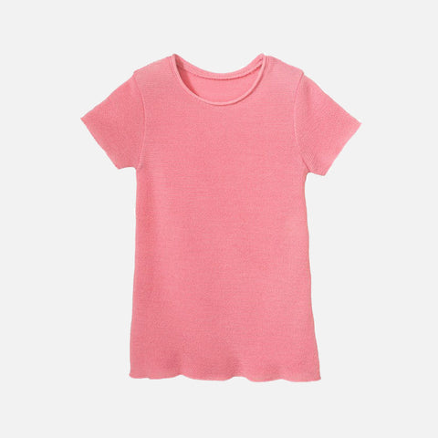 Organic Merino Wool SS Top - Raspberry