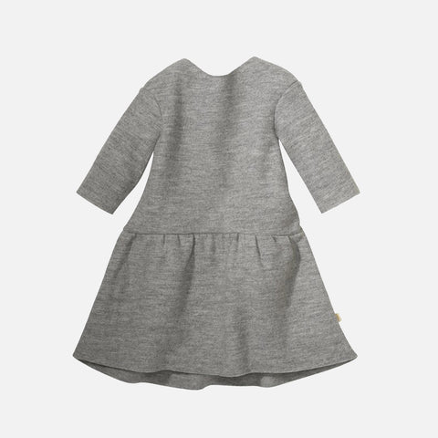 Organic Boiled Merino Wool Dress - Light Grey