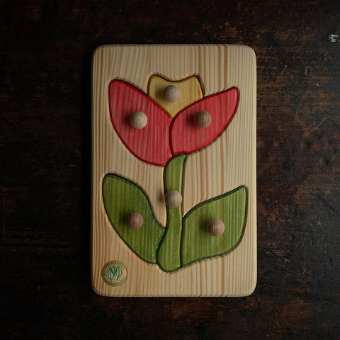 Wooden Puzzle - Flower