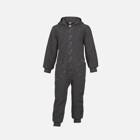 Organic Boiled Wool Zip Suit - Lava
