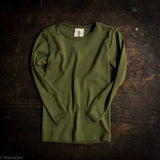 Exclusive Organic Silk & Merino Kids LS Top - Moss