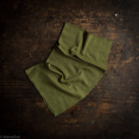 Exclusive Kids Organic Silk & Merino Snood - Moss