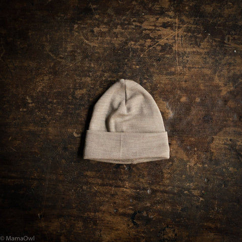 Exclusive Organic Silk & Merino Baby Hat - Dune