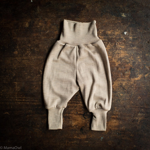 Exclusive Organic Silk & Merino Baby Pants - Dune