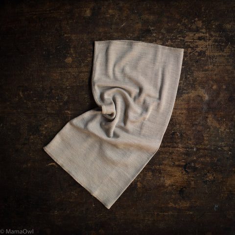 Exclusive Kids Organic Silk & Merino Snood - Dune