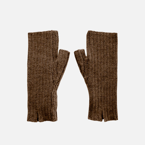 Women's Alpaca Dominique Fingerless Mitten - Cocoa