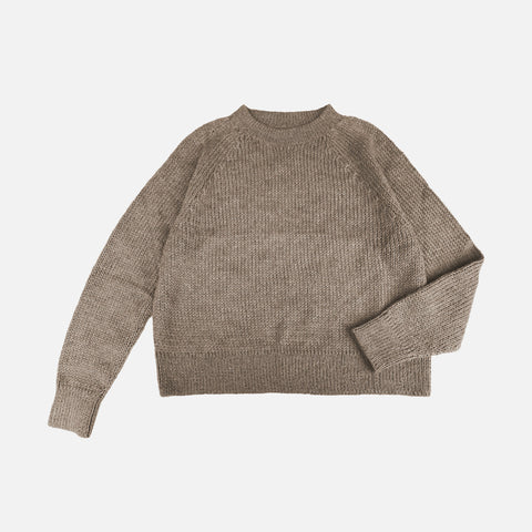 Women's Llama Naja Sweater - Pebble