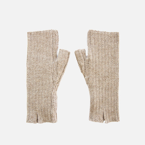 Women's Alpaca Dominique Fingerless Mitten - Pebble