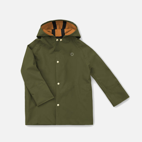 100% Waterproof Midi Raincoat - Spruce