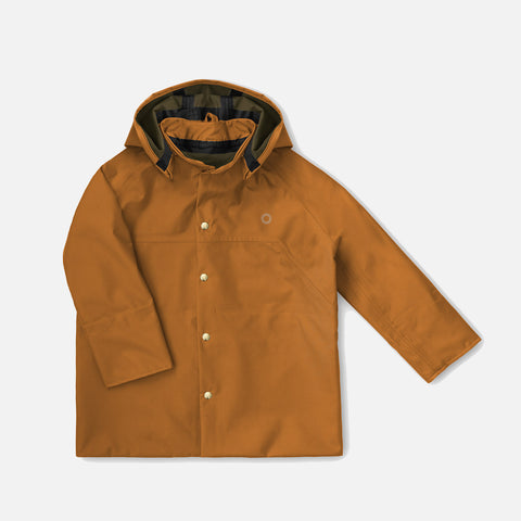 100% Waterproof Smock Raincoat - Red Oak / Rust