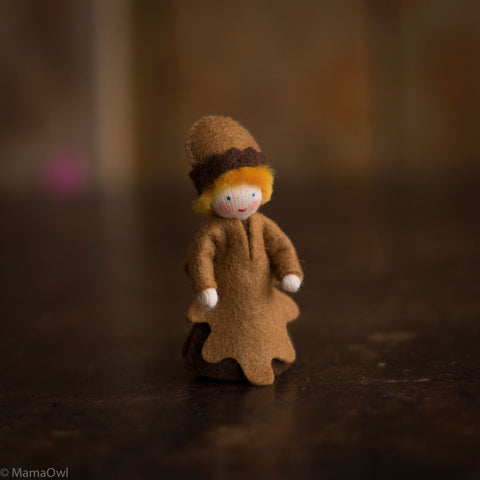 Handmade Small Wool Fairy - Acorn