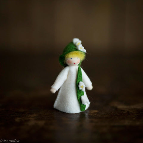Handmade Small Wool Fairy- Lily Of The Valley
