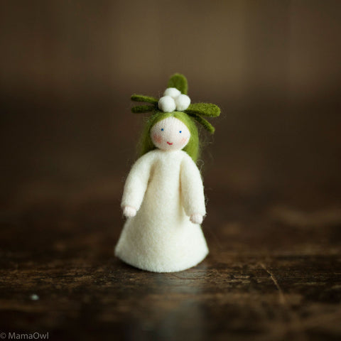Handmade Small Wool Fairy - Mistletoe Girl
