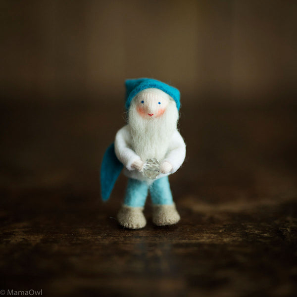 Handmade Small Pocket Gnome - Crystal