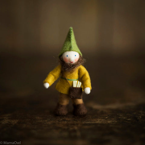 Handmade Small Pocket Gnome - Forest