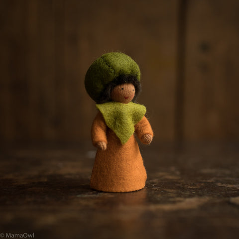Handmade Autumn Wool Fairy - Pumpkin Boy