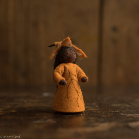Handmade Autumn Wool Fairy - Beechnut