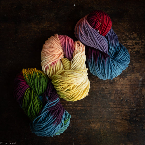 Organic Wool Multicolour Yarn - Various Colours