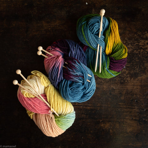 Organic Knitting Kit - Various Colours