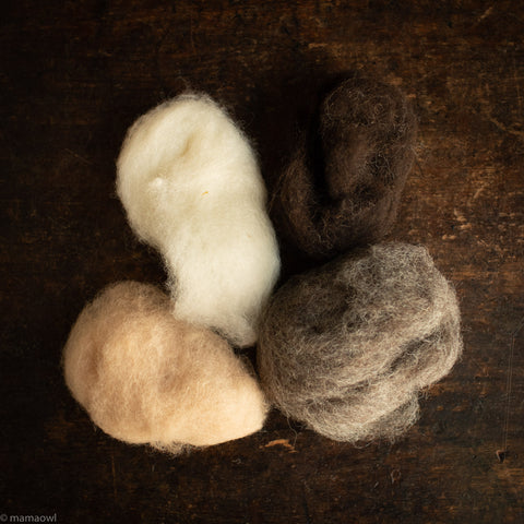 Organic Fairy Wool - Natural Colours