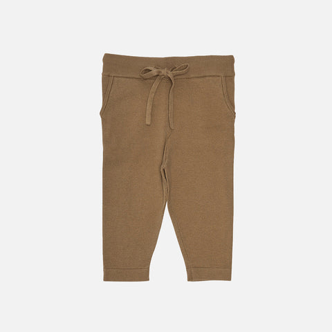 Organic Cotton Baby Pants - Camel