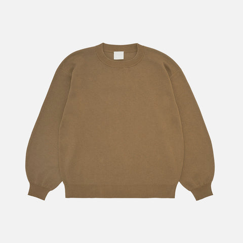 Women's Organic Cotton Crew Sweater - Camel