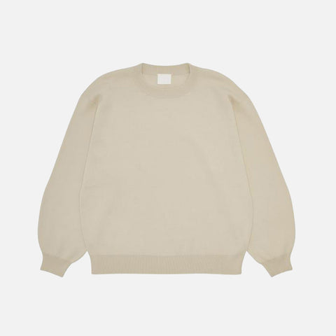 Women's Organic Cotton Crew Sweater - Ecru