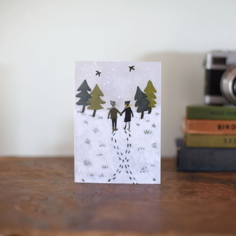 Greeting Card - Footprints