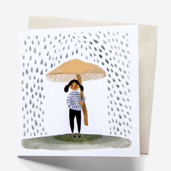 Greeting Card - It Rains