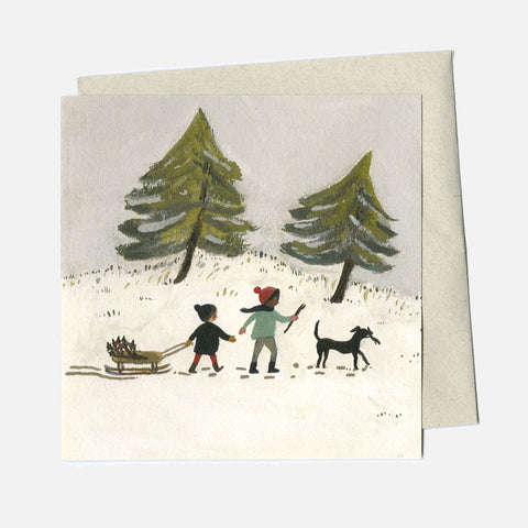 Greeting Card - Out In The Snow