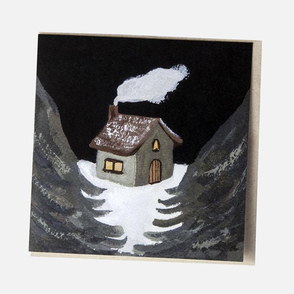 Greeting Card - Winter House