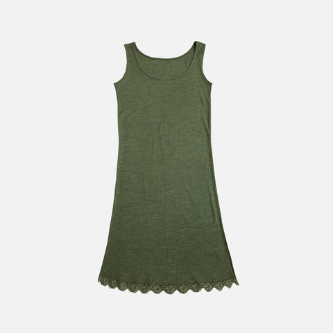 Women's Wool/Silk Lace Nightdress - Jade