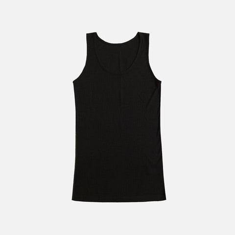 Women's Wool/Silk Sleeveless Vest - Black