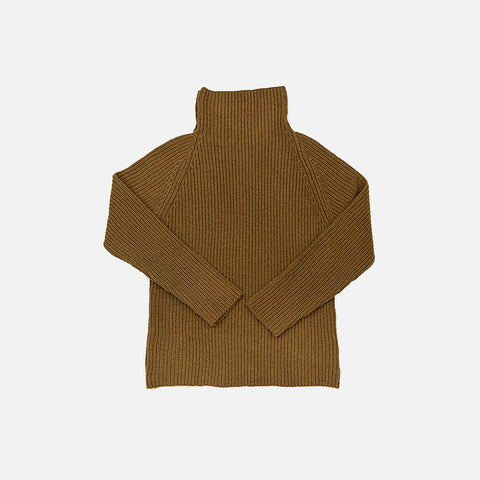 Wool Gabin Sweater - Moss