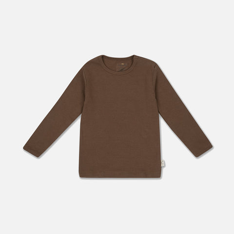 Organic Cotton Siff LS Top - Walnut