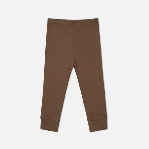 Organic Cotton Siff Leggings - Walnut