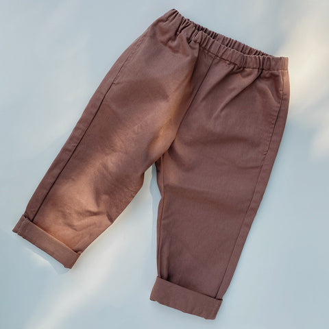 Organic Cotton Adine Pants - Rose Blush