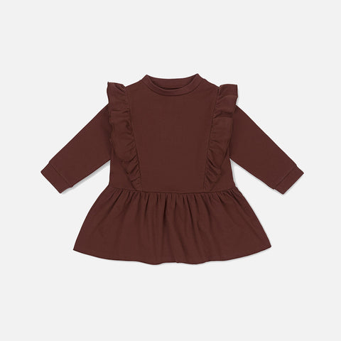 Cotton Ebi Dress - Mocca