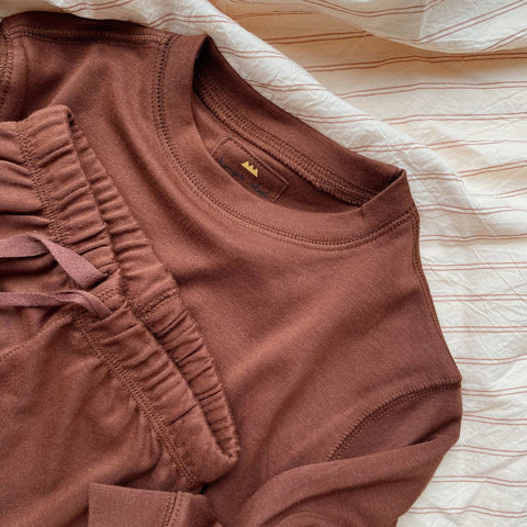 Cotton Ebi LS Top - Mocca