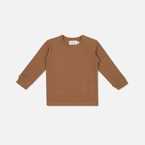 Organic Cotton Kaya LS Top - Mocca/Beige