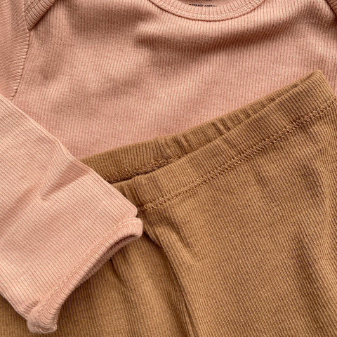 Organic Cotton Siff Leggings - Almond