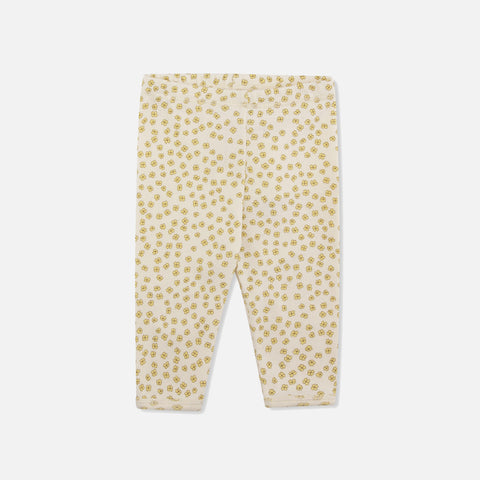 Organic Cotton Newborn Leggings - Buttercup Yellow