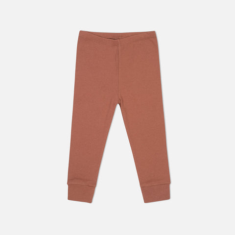 Organic Cotton Siff Leggings - Choco Bean