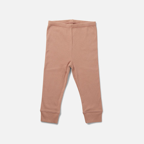 Organic Cotton Siff Leggings - Rose Blush