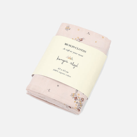 Organic Cotton Muslins - Nostalgie Blush - Set of 3