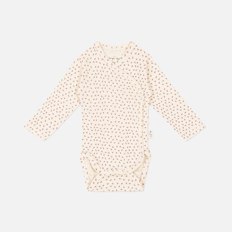 Organic Cotton Wrap Body - Tiny Clover Beige