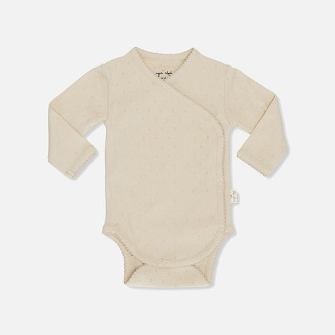 Organic Cotton Minnie Pointelle Body - Peach - Premature