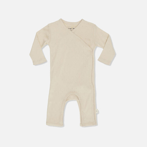 Organic Cotton Minnie Pointelle Romper - Peach - Premature