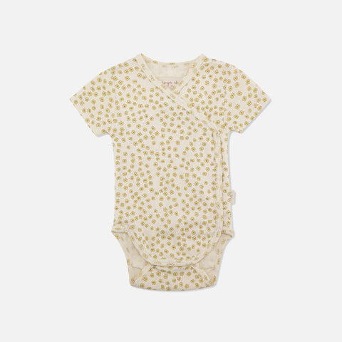 Organic Cotton Newborn SS Body - Buttercup Yellow