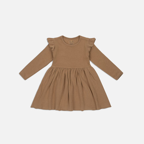 Organic Cotton Siff Dress - Almond